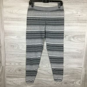 Mossimo Grey Patterend Knit Leggings X-Large
